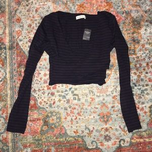 ABERCROMBIE WRAP FRONT LONG SLEEVE